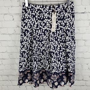SOLITAIRE   flowy lined a-line floral boho skirt